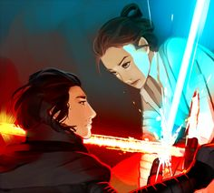 Kylo and Rey: The Call to the Light by arriku