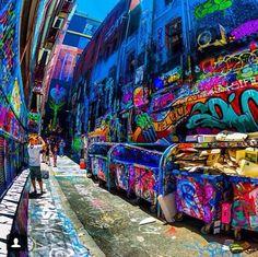 "Graffiti lanes Melbourne, Australia Something about this ""kind"" of graffiti that I find oddly beautiful. Melbourne Trip, Melbourne Street, Melbourne Australia, Australia Travel, Melbourne Graffiti, Melbourne Laneways, South Australia, Melbourne Victoria, Victoria Australia"