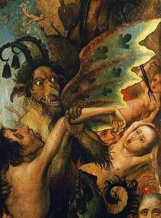 Religious Paintings, Religious Art, Arte Horror, Horror Art, Medieval Art, Renaissance Art, Medieval Paintings, Satanic Art, Hieronymus Bosch