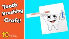 Tooth Brushing Craft – 10 Minutes of Quality Time Hand Crafts For Kids, Toddler Crafts, Preschool Activities, Diy For Kids, Health Activities, Toddler Learning Activities, Dental Kids, Dental Health, Tooth Brushing