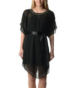 Love this Black Embellished Two-Piece Dress on #zulily! #zulilyfinds $46.99