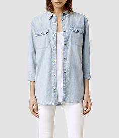 Womens Carter Shirt/Pale Indigo (Pale Indigo) - product_image_alt_text_1