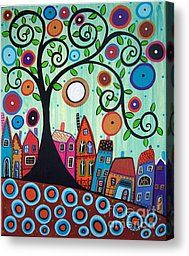 Small Town Painting by Karla Gerard - Small Town Fine Art Prints and Posters for Sale
