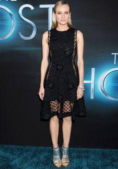 Love it! Diane Kruger wearing sheer panelled Thakoon dress
