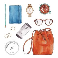 Good objects - Keeping things organized @mansurgavriel #mansurgavriel #goodobjects #watercolor