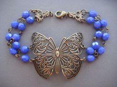Butterfly Bracelet  Victorian Filigree by SilverTrumpetJewelry, $36.00