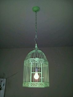 Yellow birdcage chandelier shopping pinterest birdcage diy birdcage light paint black instead aloadofball Image collections