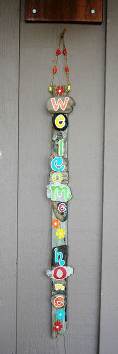 WELCOME HOME Driftwood Sign
