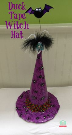Duck Tape Crafts for Halloween witch hat