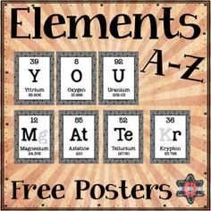 Popcorn periodic table of elements spelling pinterest elements a z poster freebie you matter spelled out in periodic table elements urtaz Choice Image