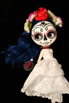 Candy a Sugar Skull Art Doll.
