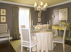 Walls are smoked oyster 2109-40,  Ceiling is straw hat CC-290 from Color Chats