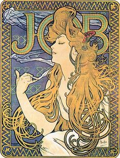 Alphonse Mucha, Papier a Cigarettes Job ad, 1896 a | Flickr - Photo Sharing