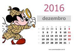 calendario 2016 mês de dezembro