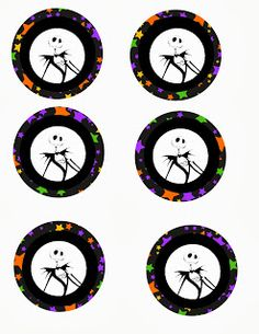 The Nightmare Before Christmas is one of the most beloved and classic Halloween movies of all time. If you have come here looking for Nightmare before christmas party ideas and supplies. Halloween Tags, Theme Halloween, Halloween Birthday, Disney Halloween, Baby Halloween, Halloween Ideas, Christmas Cupcake Toppers, Cupcake Toppers Free, Christmas Cupcakes
