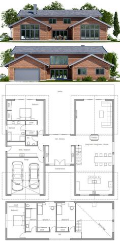 Modern farmhouse / home plan apartment макеты домов, архитектура, проекты н Simple House Plans, Dream House Plans, Tiny House Plans, House Floor Plans, Building A Container Home, Container House Plans, Container Homes, Modern Floor Plans, Modern House Plans