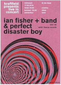 IAN FISHER + BAND - LIVE - KRAFTFELD WINTERTHUR SCHWEIZ - ORIG. FLYER COUNTRY
