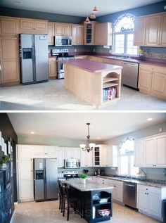 DIY Kitchen Before and After  like the kitchen on over the hedge