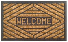 Imports Decor Rubber Back Coir Doormat, Welcome, 18-Inch by 30-Inch by Imports Décor. $17.99. Molded into a variety of attractive designs. Measures 18-inch by 30-inch. Coir matting is economical. 100-percent coir matting. Vulcanized rubber prevents skidding. Welcome your guests with this attractive rubber back coir doormat from Imports Decor. Constructed of 100-percent coir matting which is molded with vulcanized rubber in an elegant grid pattern with the wor...