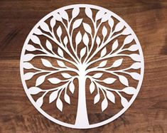 Tree Vector cutting file for Silhouette, Cricut or laser cutting. Laser Cutter Projects, Cnc Projects, Laser Cut Wood, Laser Cutting, Laser Art, Gravure Laser, Vector Trees, Cricut, Tree Svg