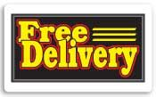 Everbrite Free Delivery Lightbox Sign