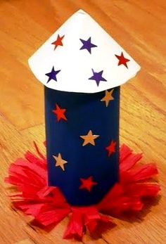 Have a blast on July 4th with these coffee filter rockets!