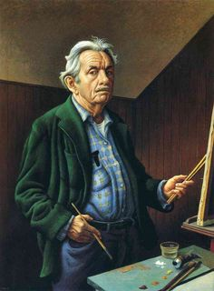 Thomas Hart Benton  -  self-portrai