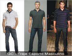Resultado de imagem para roupa masculina esporte casual