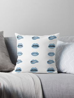 Millions of unique designs by independent artists. Find your thing. Blue Lips, Lip Designs, Original Art, Cushions, Floor, Throw Pillows, Artists, Unique, Drawings Of Lips