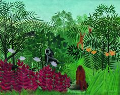 Henri Rousseau (1844-1910), Tropical Forest with Monkeys, 1910 © Washington, National Gallery of Art Courtesy National Gallery of Art, Washington