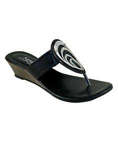 Look at this #zulilyfind! Black Inez Sandal #zulilyfinds