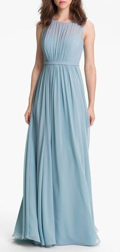 'Vivienne' Pleated Chiffon Gown