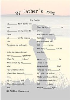 Eric Clapton's song to introduce possessive s - ESL worksheets