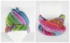Emergency Knitted Hat With A Double Life [FREE Knitting Pattern] {I love double duty things! Knit Slippers Free Pattern, Baby Booties Knitting Pattern, Knitting Wool, Knitting For Kids, Double Knitting, Knitting Ideas, Knitting Projects, Knit Cowl, Ravelry Free Knitting Patterns