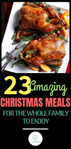 Looking for Christmas dinner recipes to really up your holiday game with the family? We've gathered some of our best Christmas dinner ideas for you. Gourmet Recipes, Cooking Recipes, Healthy Recipes, Healthy Meals For Two, Easy Meals, Christmas Dinner Menu, Christmas Meals, Christmas Menu Ideas, Holiday Meals