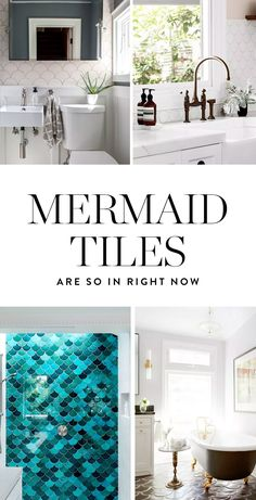 """The latest playful decor craze might just be our favorite yet: Moroccan fish scale or """"mermaid tiles"""", which are swimming into stylish residences everywhere. Discover them here."""
