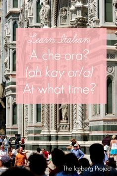 Learn Italian: A che ora? - At what time?