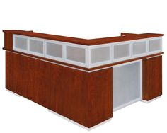 DMI Pimlico reception desks offer a striking high-end, contemporary look for your lobby or reception area.
