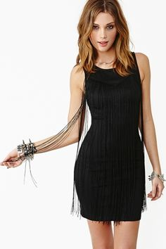 Fallen Fringe Dress from Nasty Gal. LOVE.