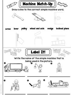 Simple Machines Unit: Simple Machines Word Search
