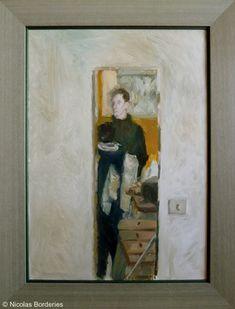 Dans le miroir, oil on canvas, 70 x 50 cm, 2012.