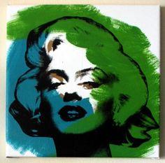 Steve Kaufman ''Marilyn'' Pop Art Painting Featured at Prestigious Oscars After Party.  www.americanpopartinc.com