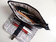 Mein neues Lieblings-Stiftemäppchen bewährt sich auch im Alltag :-) Beim Nähen hatte ich mitfotografiert. Und da eine Leserin danac...