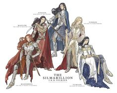Maedhros, Maglor, Fingon, Finrod, and Turgon--Do NOT take these cousins on in a fight. Man, they could have been so lethal if they'd teamed up like this.