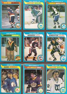334-342 Jean Potvin, Jordy Douglas, Joel Quenneville, Glen Hanlon, Dave Hoyda, Colin Campbell, John Smirke, Brian Glennie, Don Kozak