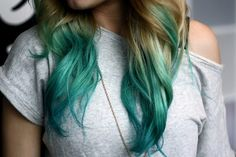 dip dyed hair | Tumblr