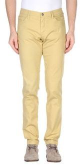 $79, Yellow Chinos: Ice Iceberg Casual Pants. Sold by yoox.com. Click for more info: https://lookastic.com/men/shop_items/256594/redirect