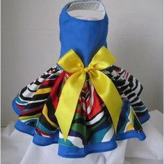Navy Zebra Couture Dog Dress – Bark Label
