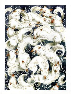 "phoebe-bird: "" jensineeckwall: "" How to Make Snow, watercolor "" Jensine Eckwall, a fabulous lady and artist """