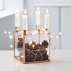 Adventsløsninger - Med den smukke kobberstage fra Bloomingville kan du pynte stagen med den pynt, du elsker. #inspirationdk #inspiration #jul #advent #christmas #lys